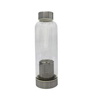Стъклена бутилка с цедка